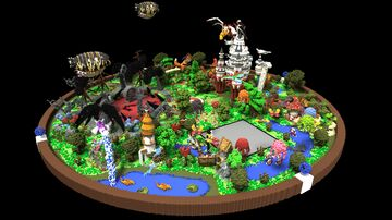 Hub Lobby Spawn with Castle, Beautiful nature and animals Minecraft Map & Project