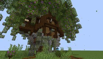 Simple Azalea Willow Tree House - Wood Shop Idea - [World Download] Minecraft Map & Project