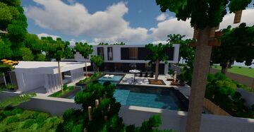 White Modern Villa Minecraft Map & Project