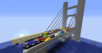 Bridge - zombie map v2 by OOF6969 (not stealing, just making this more interesting cuz the map is well built but poorly in the playable part) Minecraft Map & Project