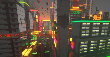 Another cyberpunk project Minecraft Map & Project