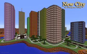 New City in Canyon City Minecraft Map & Project
