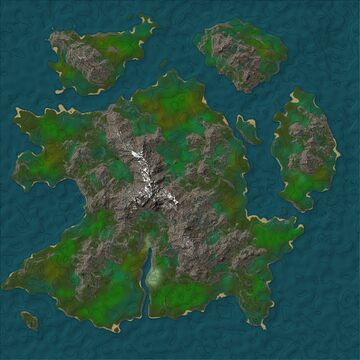 2.5k survival Island map with snowy mountain, free download! Minecraft Map & Project