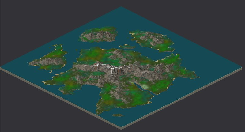 3d view of the map