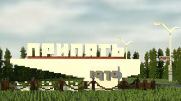 ПРИПЯТЬ 1970   PRIPYAT 1970 - City Memorial Road Sign - Ukrainian SSR Minecraft Map & Project
