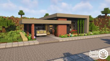 A Modern House - 04 Minecraft Map & Project
