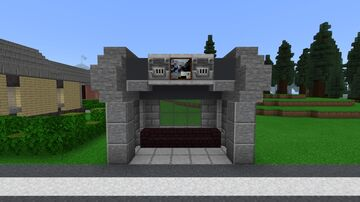 Fallout 4 Bus Stop Minecraft Map & Project