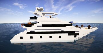 Modern Luxury Yacht #2 (map download) 🌊🚢 Minecraft Map & Project