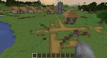Awesome Village Spawn with Caves Minecraft Map & Project