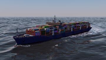 Fictional Container Ship - Helena Class Minecraft Map & Project