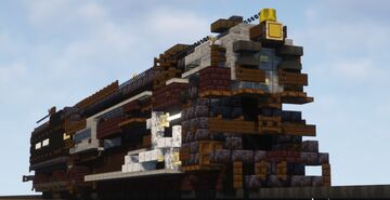 1.5:1 Scale Union Pacific 9000 Series Steam Locomotive Minecraft Map & Project