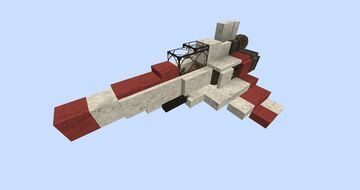 Battlestar Galactica Viper With Download #WeAreConquest Minecraft Map & Project