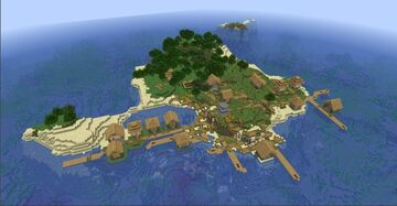 Isoled village Minecraft Map & Project