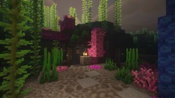 Amethyst Geode House - Creative Build Series Minecraft Map & Project