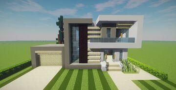 Modern House Map + Schematics Minecraft Map & Project