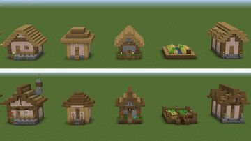 Every Village houses Redesigned Minecraft Map & Project