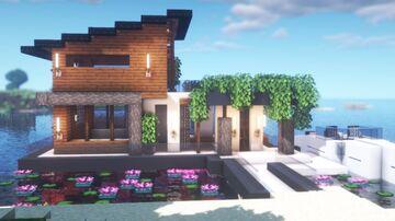 Modern lake house Minecraft Map & Project
