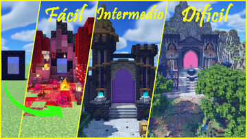 NETHER PORTAL transformations / Transformaciones del Portal al Nether Minecraft Map & Project