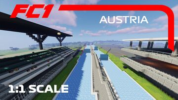 F1 Red Bull Ring, Austria, 1:1 scale Ice boat racing track Minecraft Map & Project