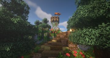 ArtistW03's Medieval Tower House With Custom Terrain [Schematic] Minecraft Map & Project