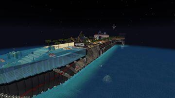 Diamond Ultrayatch 420 Blocks long World record Minecraft Map & Project