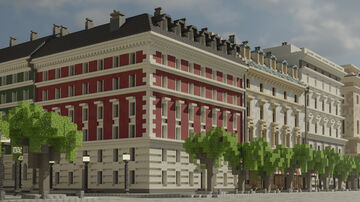 European Townhouses Minecraft Map & Project