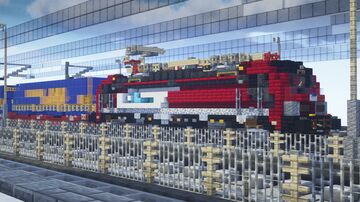 ČD CARGO [Vectron] 193 627 // 1.5:1 Scale Minecraft Map & Project