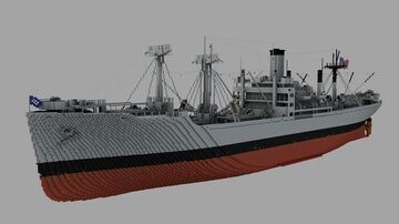 S.S. LANE VICTORY (June 1945) (Interior coming soon) Minecraft Map & Project