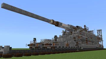 Schwerer Gustav Railway Gun redo (1.5:1) Minecraft Map & Project
