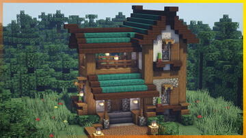⚒️ Minecraft: Awesome Medieval House Minecraft Map & Project