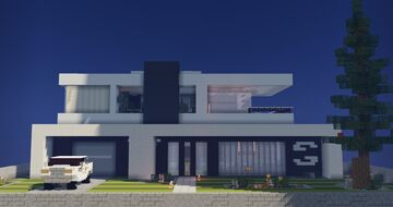 Modern house [download] Minecraft Map & Project