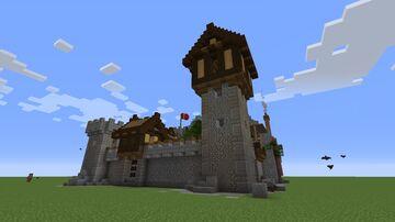 orta seviye ortası ortası ortaokulu kalesi Minecraft Map & Project