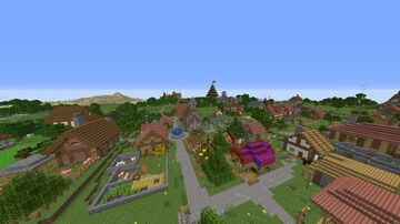 Medieval village (UNFINISHED) Minecraft Map & Project