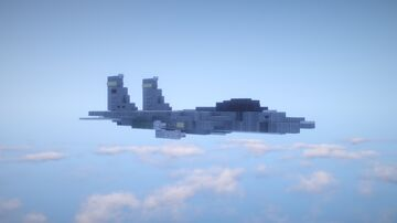 1.5:1 Scale McDonnell Douglas F-15E Strike Eagle Minecraft Map & Project