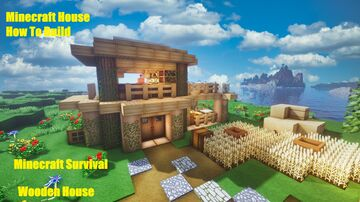 Minecraft | How To Build Wooden House - Tutorial Minecraft Map & Project