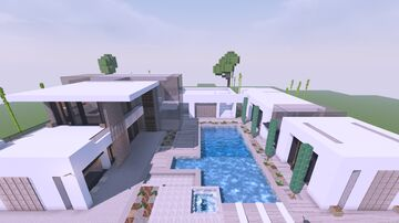 𝙈𝙤𝙙𝙚𝙧𝙣 𝘾𝙤𝙣𝙘𝙚𝙥𝙩 𝙃𝙤𝙪𝙨𝙚 Minecraft Map & Project