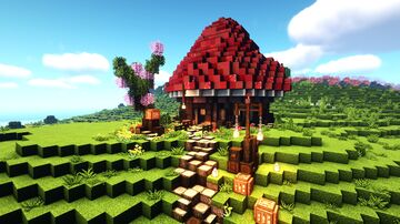Mushroom House Guide 1.16.5 Minecraft Map & Project