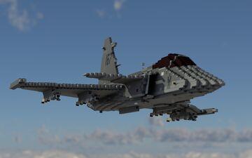 Saab JAS-39C Gripen  F7 Skaraborg Wing (10:1 scale) Minecraft Map & Project