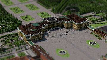 Schönbrunn palace 1:1 scale in MInecraft! Alps BTE Minecraft Map & Project