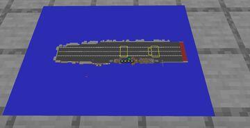 USS Saratoga (CV-3) Lexington-class aircraft carrier Minecraft Map & Project