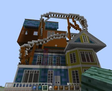 Atlantic craft Hello neighbor alpha 3 house (not fully finished yet) Minecraft Map & Project