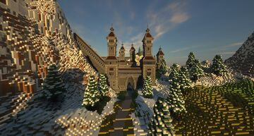 Winter Mountain Castle Minecraft Map & Project