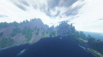 Island in sea. Surrounding nature Minecraft Map & Project