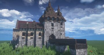 le chateau la grand cour Minecraft Map & Project