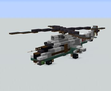 MIL MI-24 Soviet Attack Helicopter Minecraft Map & Project