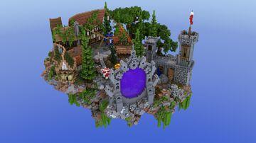 Elven Portal Floating Hub | 1.8+ Minecraft Map & Project