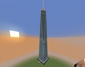 One World Trade Center 1:1 Scale - 510 Blocks High Minecraft Map & Project
