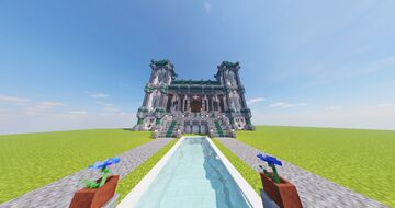 Large Medieval style Mansion Minecraft Map & Project