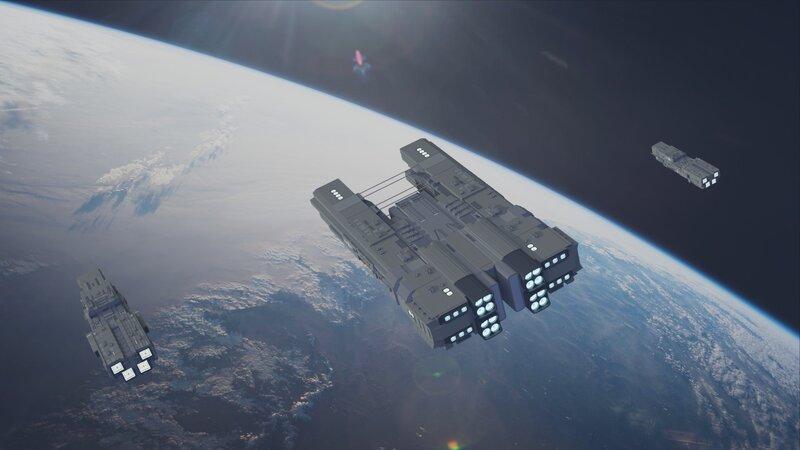 Tauto strike fleet above Terran orbit