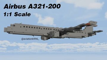 Airbus A321-200 1:1 Scale Minecraft Map & Project